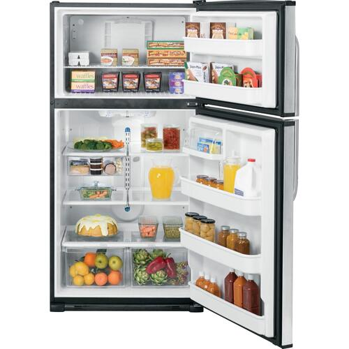 GE® 21.0 Cu. Ft. Stainless Top-Freezer Refrigerator