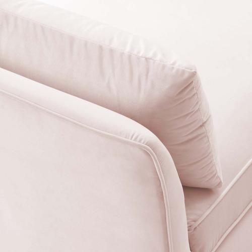 Ardent Performance Velvet Armless Chair in Pink