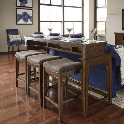 Gallery - 4 Piece Console Set (1-Console 3-Stools)
