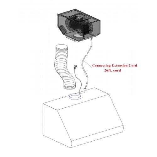 Zline Kitchen and Bath - ZLINE Remote Blower Range Hood Insert in Stainless Steel (695-RD) [Size: 28 Inch]