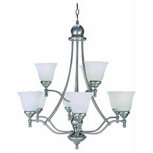9-lite Chandelier, Ps W/cloud Glass Shade 60wx9/a Type