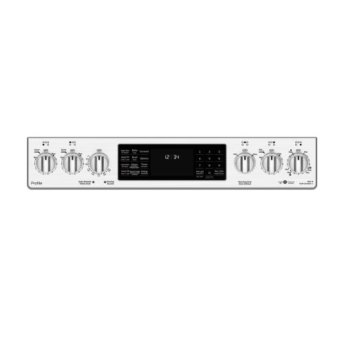 "GE Profile 30"" Electric Slide-In Range with Baking Drawer Stainless Steel - PCS940SMSS"