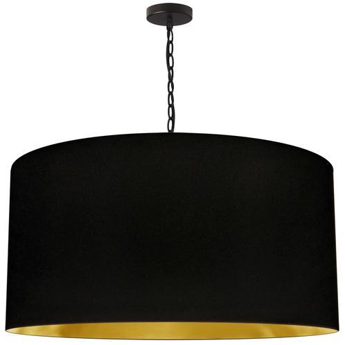 Product Image - 1lt Braxton X-large Pendant, Blk/gld Shade, Blk