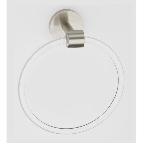 Acrylic Contemporary Towel Ring A7240 - Satin Nickel