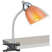 Clip-on Lamp, Chrome, Orange Acrylic Shade, E27 Cfl 13w