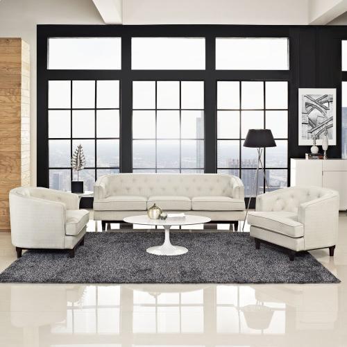 Coast Living Room Set Set of 3 in Beige