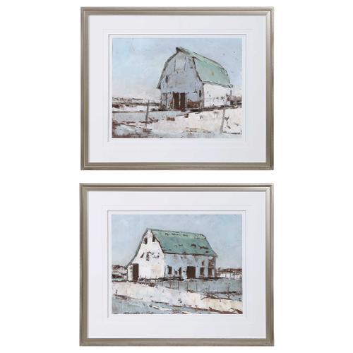 Uttermost - Plein Air Barns Framed Prints, S/2