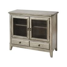 Walsh 2-door 2-drawer Cabinet In Antique Silver Leaf
