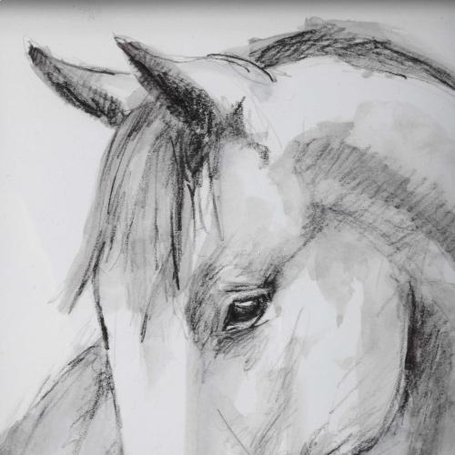 Equestrian Watercolor Framed Prints, S/2