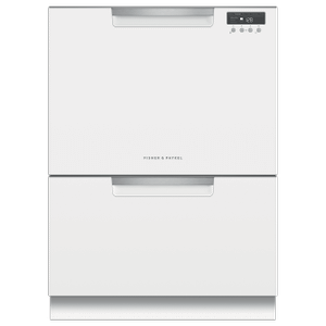 Double DishDrawer Dishwasher, Tall, Sanitize - WHITE