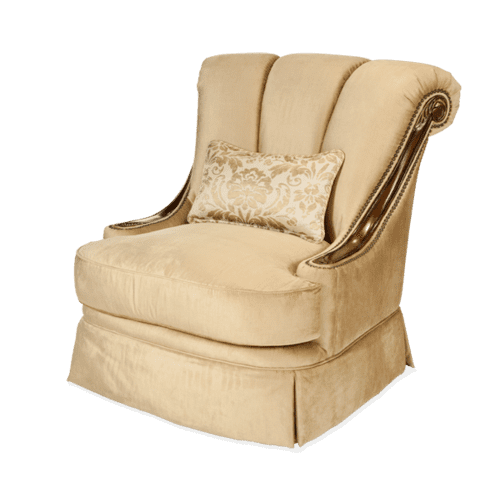 Wood Trim Swivel Chair - Grp1/Opt1