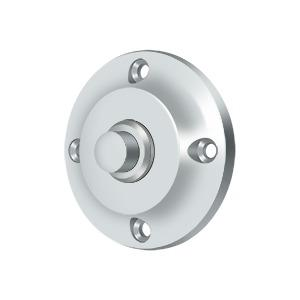 Deltana - Bell Button, Round Contemporary - Polished Chrome