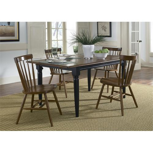 Liberty Furniture Industries - Butterfly Leaf Table - Black & Tobacco