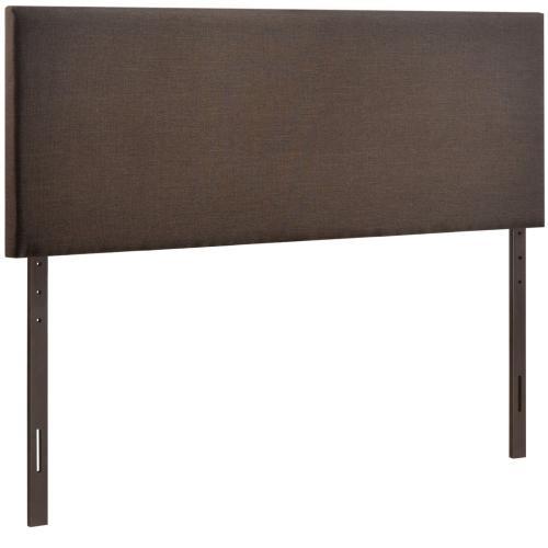 Region Queen Upholstered Headboard in Dark Brown