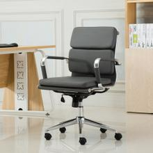 Modica Chromel Contemporary Low Back Office Chair, Gray