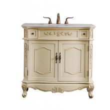 See Details - 36 in. Single Bathroom Vanity set in light antique beige