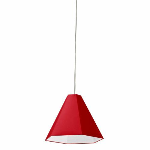 Product Image - 1lt Pendant, Polished Chrome, W/ Red Shade