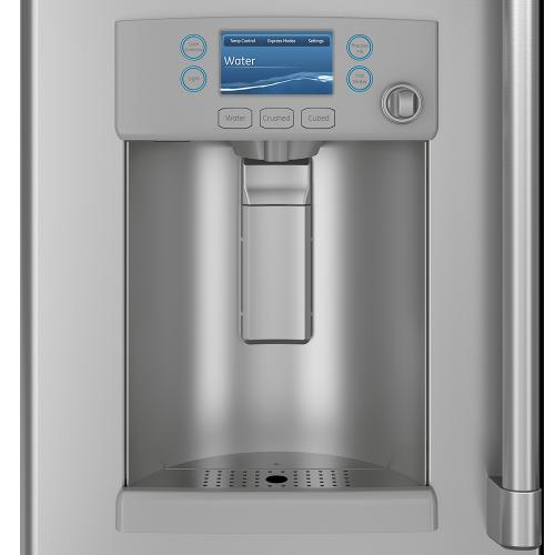 Café 22.2 Cu. Ft. Counter-Depth French-Door Refrigerator with Hot Water Dispenser Stainless Steel