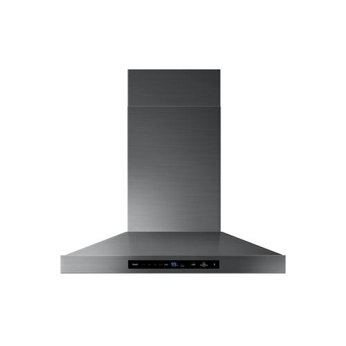 "30"" Chef Collection Wall Mount Hood in Matte Black Stainless Steel"