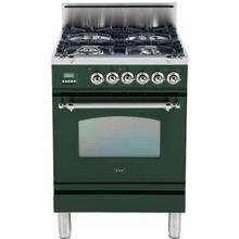 See Details - Nostalgie 24 Inch Gas Natural Gas Freestanding Range in Emerald Green with Chrome Trim