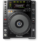 Digital deck with full scratch jog wheel and rekordbox support (black) Product Image
