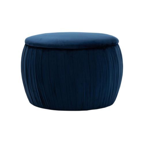 Tov Furniture - Fleur Navy Velvet Storage Ottoman