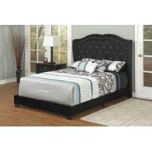 See Details - Black Velvet Full Bed