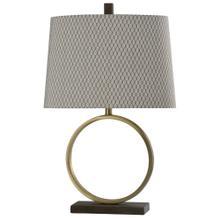 Savannah  Bryan Keith Branded  Steel and Wood Table Lamp  150W  3-Way  Hardback Designer Shade