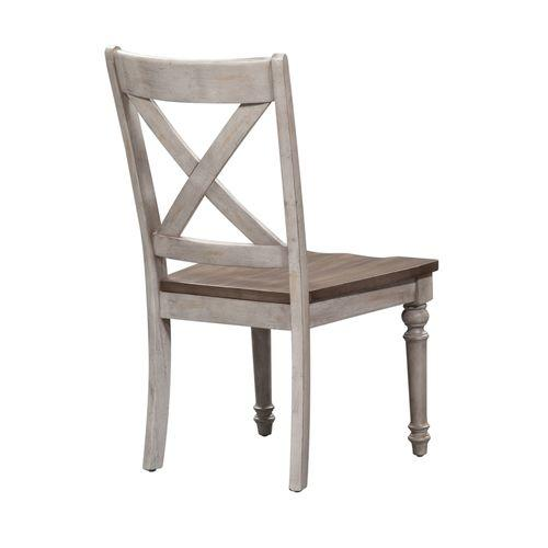 Liberty Furniture Industries - X Back Wood Seat Side Chair (RTA)