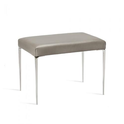 Stiletto Stool - Grey/ Nickel