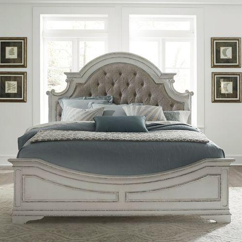 Liberty Furniture Industries - King Uph Bed, Dresser & Mirror, Chest, Night Stand