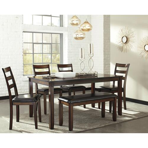 Coviar Dining Table and Chairs With Bench (set of 6)