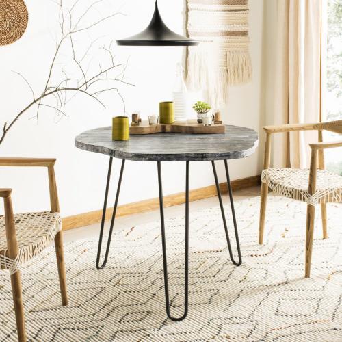 Mindy Wood Top Dining Table - Grey / Whitewash