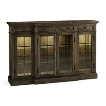 Dark Driftwood Four Door China Display Cabinet
