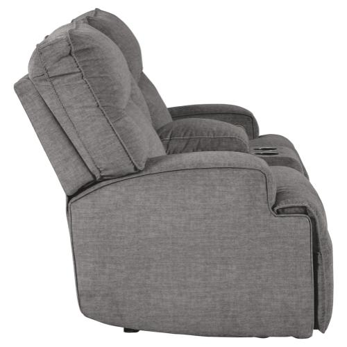 Signature Design By Ashley - Coombs Power Reclining Loveseat With Console