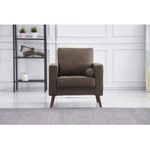 See Details - 8115 BROWN Linen Stationary Chair