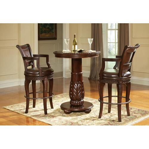 "Steve Silver Co. - Antoinette PU Swivel Bar Chair 23""W x 22""D x 47""H"