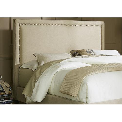Liberty Furniture Industries - Nail Head Panel Headboard Queen - Natural Linen