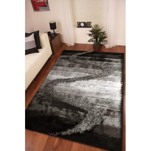 Designer Shag S.V.D. S10 Area Rug by Rug Factory Plus - 5' x 7' / Gray