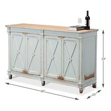 Marksman Sideboard, Ant. Soft Blue Wash