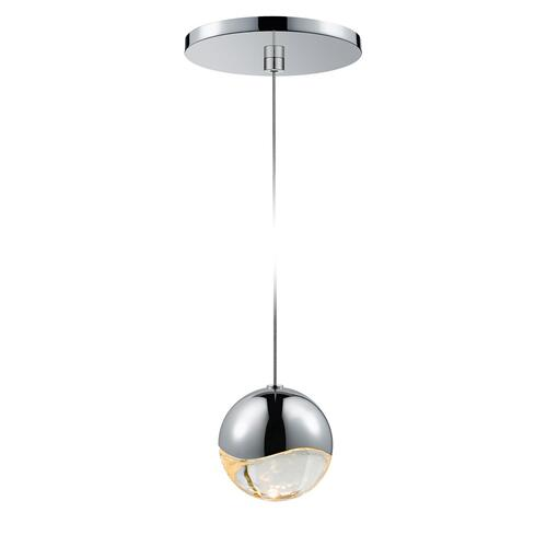 Sonneman - A Way of Light - Grapes® LED Pendant [Size=Single Medium, Color/Finish=Polished Chrome, Shape=Round Canopy]