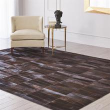 Inlay Hair-on-Hide Rug-Chocolate-9 x 12