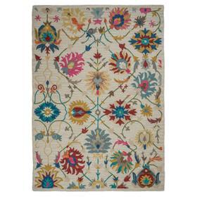 """Athena-Isfahan Ivory - Rectangle - 27"""" x 45"""""""