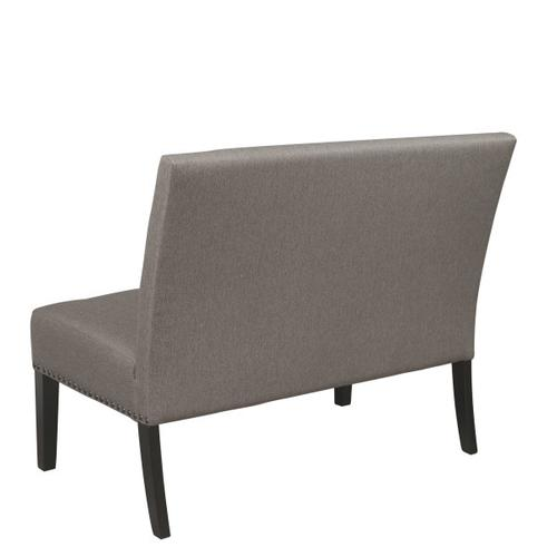 Upholstered Nailhead Trimmed Settee in Café Brown