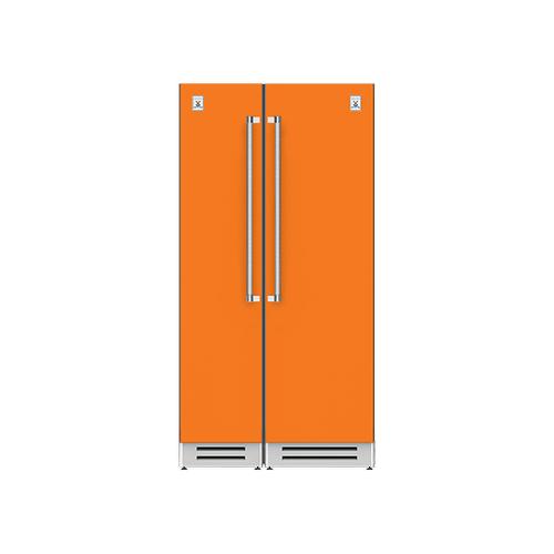 "Hestan - 42"" Column Freezer (L) and Refrigerator ® Ensemble Refrigeration Suite - Citra"