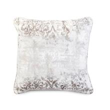 Decorative Throw Pillow with a Cream Damask Pattern