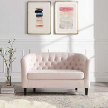 Prospect Performance Velvet Loveseat in Pink