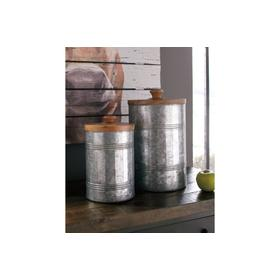 Jar Set Divakar Antique Gray
