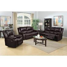 8026 BROWN 3PC Air Leather Living Room SET