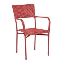 Resin Wicker Outdoor Arm Chair - Red